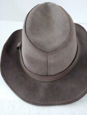 """Vintage Minnetonka 100% Leather Hat Small-Medium Size 7 22"""" in Circumference"""