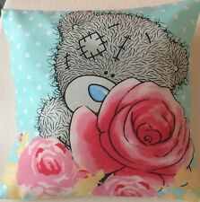 Me to You Tatty Ted Roses Blue Handmade Cushion Cover/Pillow Case 12x12 inch