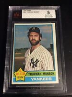 1976 Topps #650 Thurman Munson BGS BVG 5 New York Yankees Original