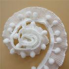 1yd Vintage White Elastic Pleated Lace Trim Gathered Wedding Ribbon Sewing Craft