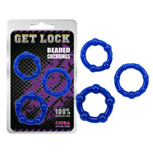 Chisa Beaded Cock Ring, Stop Premature Ejaculation , Erection  Penis Aid UK