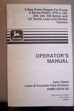 JOHN DEERE OPERATOR'S MANUAL OMM118316 K5 2 BAG GRASS BAGGER FOR R & S SERIES