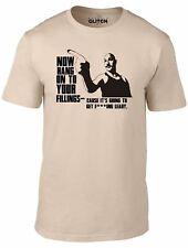 Hold on to your Fillings Mens T-Shirt - Charles Bronson Film TV Joke Funny
