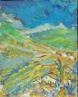 """André TELLIER  - """""""" Vallon varois """"  GOUACHE vers 1950/60"""