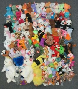 ~~124 TY BEANIE BABIES, TEENIES, ATTIC TRASURES, & BUDDIES - WHOLESALE BULK