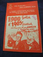 Partition 1900 et 1905 Scottish Eugène Hansen Van Herck Music Sheet