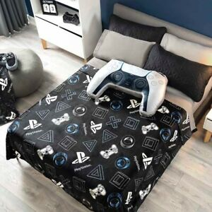 PLAYSTATION ORIGINAL LICENSED TEENS BOYS LIGHT BLANKET VERY SOFTY AND WARM QUEEN
