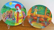 Set of 2 Ronald McDonald  1989 Melamine Plates