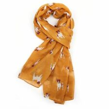 Mustard Jack Russell Dog Scarf Scarves Dogs Gift Ladies Gifts Womens Wrap New