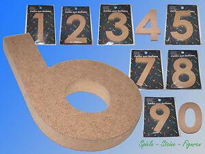 Madera Cifras Números 15cm Alto / 1,5cm Dick sin Procesar, Bastelzahlen Número