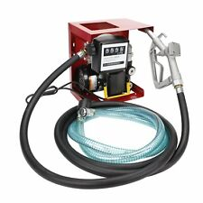 110V Electric Diesel Oil Transfer Pump Fuel Manual Nozzle 13' Hose w/ Meter New