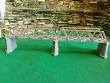 Lattice Girder Railway Bridge SingleTrack N Gauge with 3 Stonework Support Piers