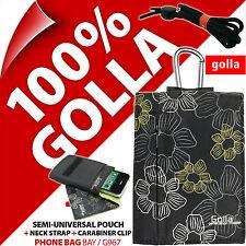 Golla Noir Téléphone Étui Sac Pour iPhone 4 s 5 5 C 5 S SE Samsung Galaxy S2, S4 mini