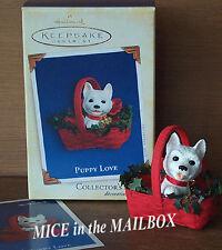 Puppy Love~#15~2005~Hallmark Ornament~White West Highland Terrier~Westie Dog