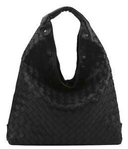 Medium Size Plain Checker Design Shoulder Bag Hobo Handbag  Crossbody