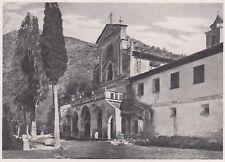 D3641 France - Saorgio - Convento dei Cappuccini - Stampa - 1940 vintage print