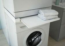 Waschmaschine Trockner Zwischenboden Ablagefach Metall ausziehbar weiß respekta