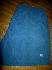 Men's size 3XL Big Dogs Solid Blue Swim Trunks Shorts, 3 Snap Pockets