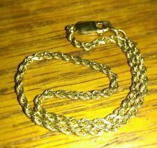 """Solid 14k gold rope bracelet 8.5"""" long 4.05 grams stamped 2.2mm"""