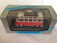 MINICHAMPS 052302 1/43 VW T1 SAMBA BUS RED / CREAM