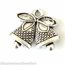 20 Tibetan Silver 17x14mm Christmas Jingle Bell charms Jewellery Making