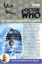 More details for doctor who: the dalek invasion of earth dvd insert signed (various autographs)