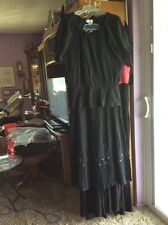 OSO CASUALS..BLACK..M..PEASANT TOP..5 TIER SKIRT..BLING,,SQUARE DANCE DRESS