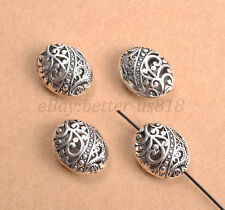 Tibetan Silver Ellipse Shaped Hollow Spacer Beads For Jewellry 28X18MM B26
