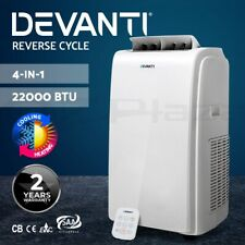 Devanti Portable Air Conditioner Reverse Cycle Fan Cooler Dehumidifier 22000BTU