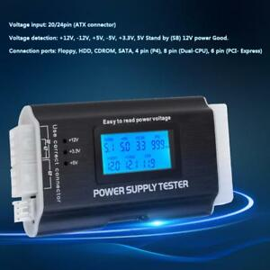 20/24 Pin Digital LCD PC Computer Netzteil Tester für ATX PCI-E SATA HDD