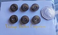 6 Vintage 2 hole Brown Shades Plastic Cardigan Jacket Sewing Buttons Approx 15mm