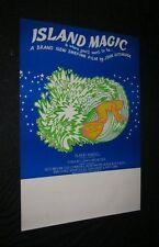 Original 1972 Australian Surfing Movie Theatre Poster Island Magic