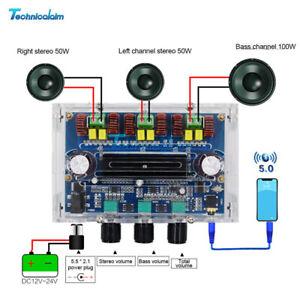 TPA3116D2 Bluetooth 5.0 Digital Power Amplifier Board 2*50W+100W 2.1 Channel