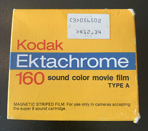 Vintage Kodak Ektachrome 160 Super 8 Sound Color Movie Film Type A ELA 594 - NOS
