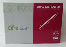 5ml Oral Dispenser With Cover Qty 100 Oral Dispensers By Care Touch No Needle