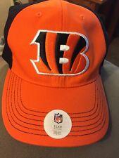 CINCINNATI BENGALS  NFL Team Apparel Tiger B Logo 1 Size Stretch Hat NWT Cap $24