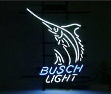 """New Busch Light Swordfish Bar Beer Man Cave Bar Neon Light Sign 20""""x16"""""""