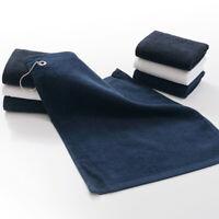 Golf Microfiber Cart Towel Masters Tri-Fold Black Golf Bag Towel - New With Clip