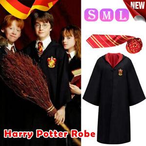 HarryPotter Gryffindor Kostüm Umhang Schal Krawatte Halloween Karneva für Kinder