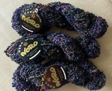 3 skeins Noro Silk Mountain super bulky boucle yarn wool silk mohair gray Col 1A