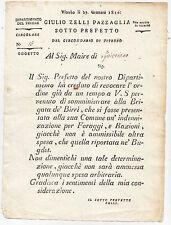 R299-IMPERO FRANCESE-DIPARTIMENTO DEL TEVERE-VITERBO FORAGGI E RAZIONI MILITARI