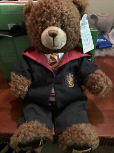 BUILD-A-BEAR Harry Potter Gryffindor Brown Bear Plush Robe Shirt Tie