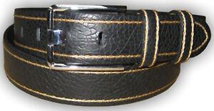 Mens Designer Brand Full Grain Business Genuine Real Leather Belt Waist Strap