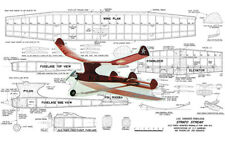 "Model Airplane Plans (RC/FF): STRATO-STREAK 40"" Wingspan Old-Timer"