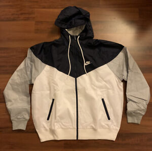 NEW Nike Windrunner Wind Jacket CU9474-420 Navy Grey White Men's Large L $100