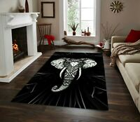 Elephant Patterned  Carpet Non Slip Floor Carpet,Area Rug,Teen Carpet