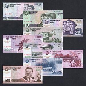 SET 2002-2008 ASIA 5 10 50 100 200 500 1000 2000 5000 WIN P-CS9-17 UNC > COMM