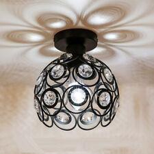Delicate Crystal Floral Design Chandelier Shade Pendant Light Shade_Black