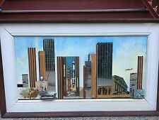 1967 CHARLES ALLENBROOK Listed mid century multimedia architectural city scape