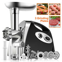 Electric Meat Grinder Sausage Stuffer Commercial Stainless Steel W/Accessories